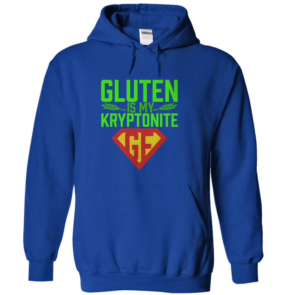 gluten free blue hoodie gluten is my kryptonite