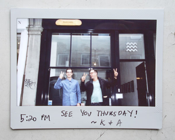 5:20 PM SEE YOU THURSDAY! ~ K + A