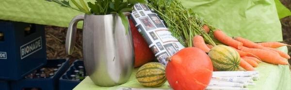 Foto: Kürbisse und Karotten