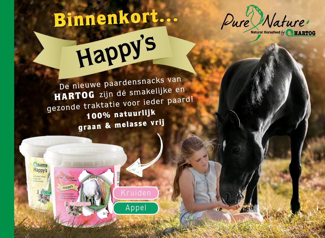 Hartog Happy's de nieuwe paardensnoep de smakelijke en gezonde traktatie voor ieder paard