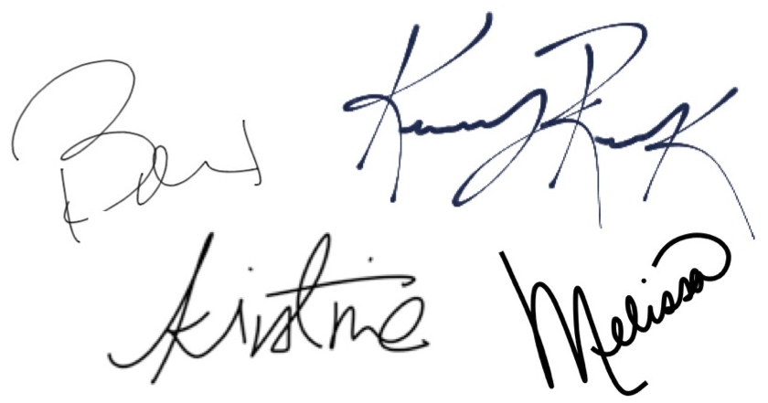 Team Beesley Signatures