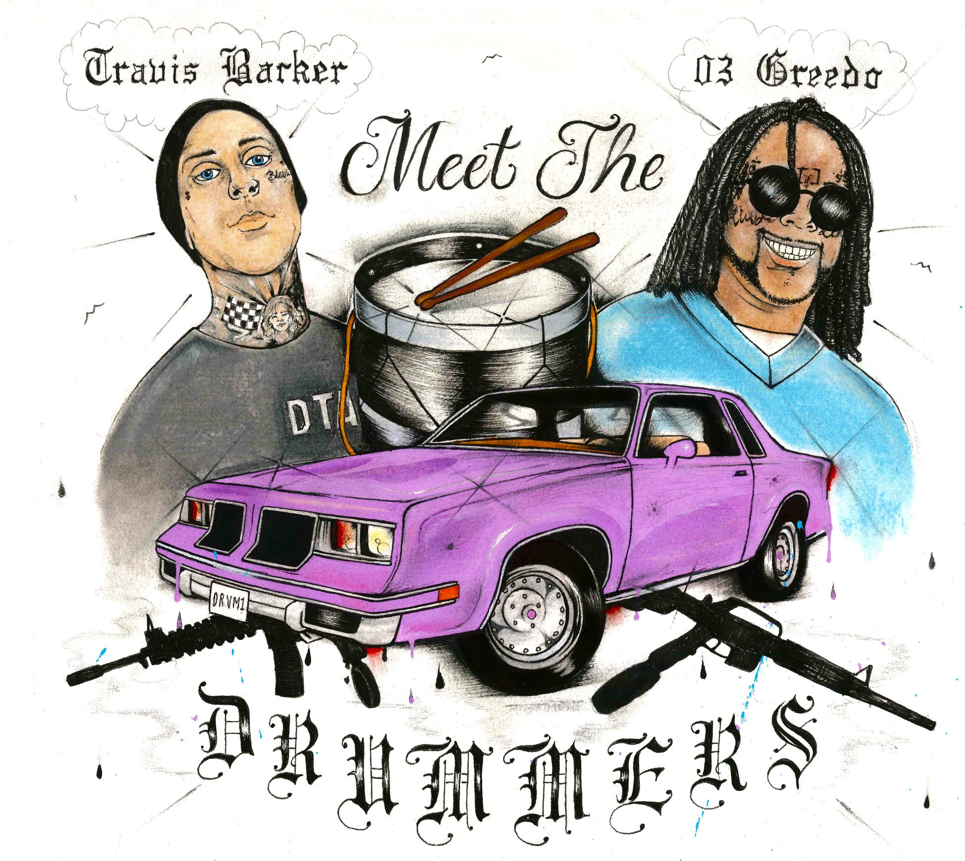 Worlds Collide: 03 Greedo & Travis Barker Share 'Meet The Drummers' EP
