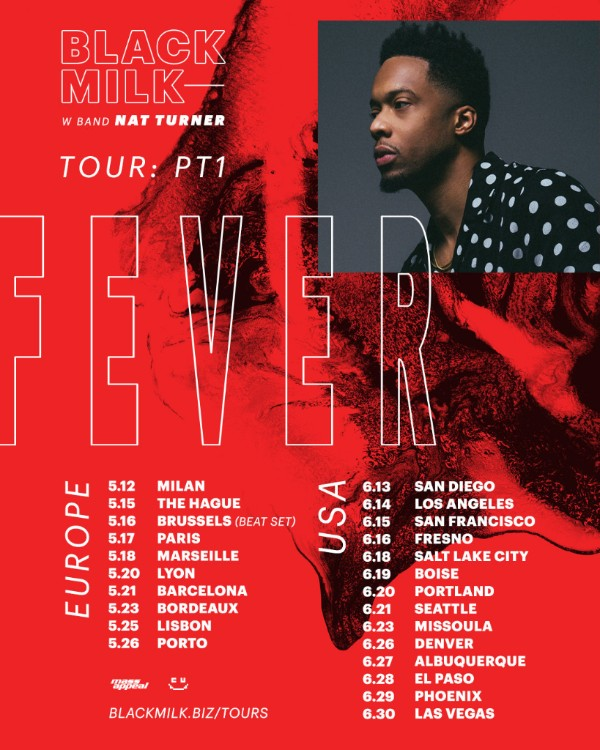 Black Milk Announces FEVER Tour with Backing Band Nat Turner