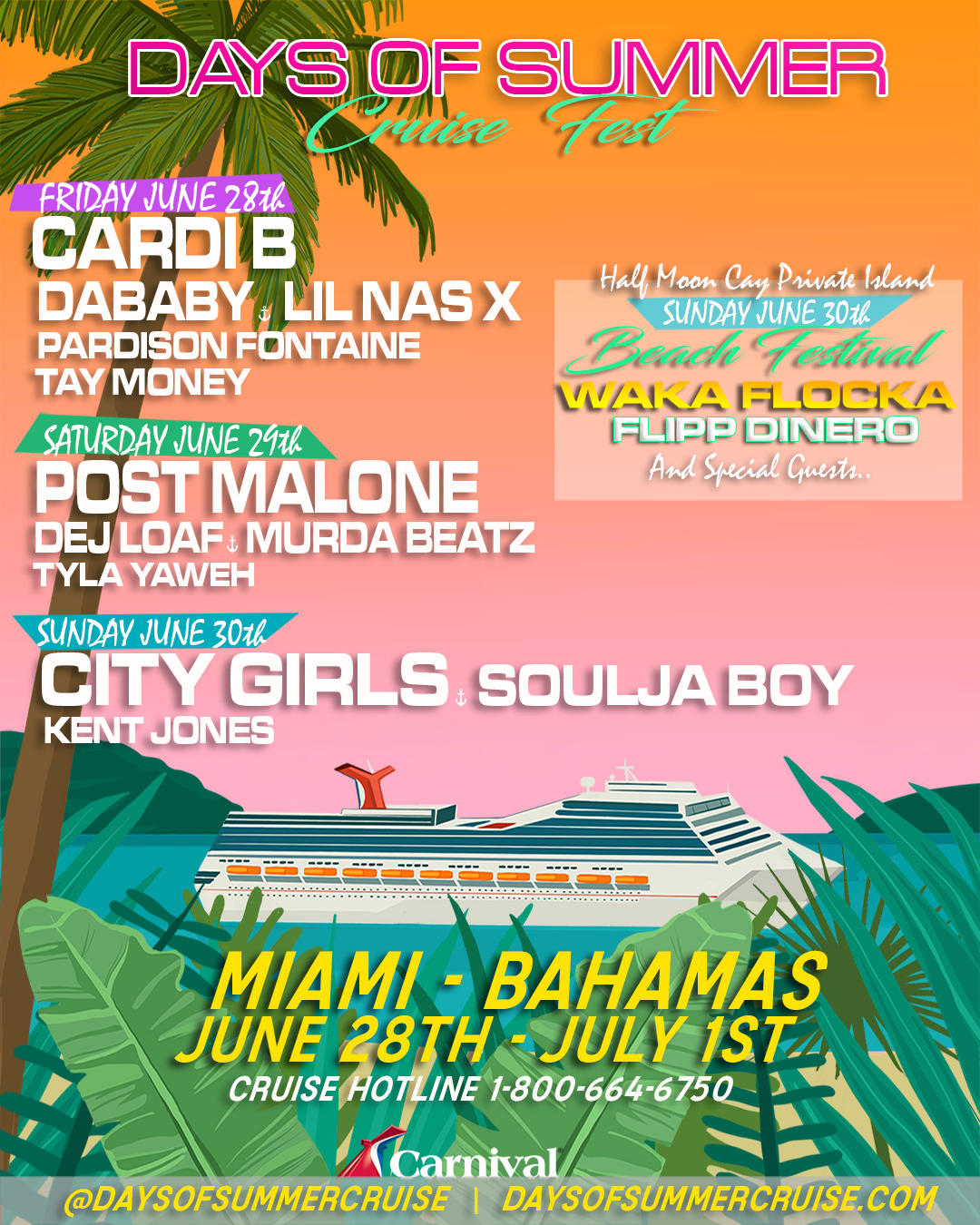 Days Of Summer Announces Full Lineup, Headlined by Post Malone, With Cardi B and Host DJ Khaled