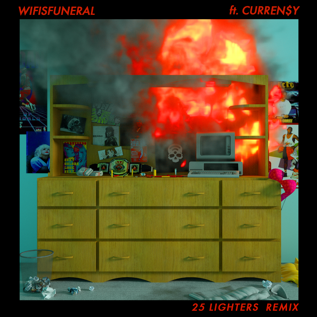 "Wifisfuneral Recruits Curren$y For ""25 Lighters"" Remix For 4/20"