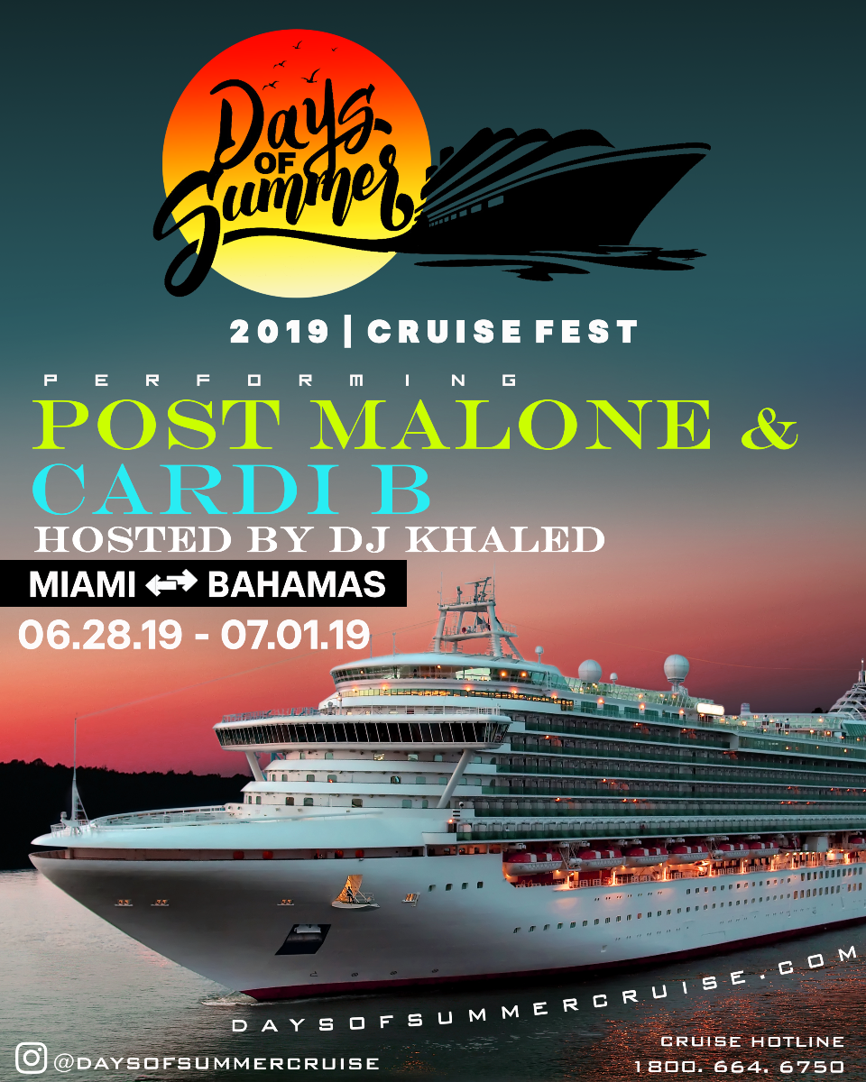 Post Malone To Headline Days of Summer Cruise 2019, With Cardi B & DJ Khaled