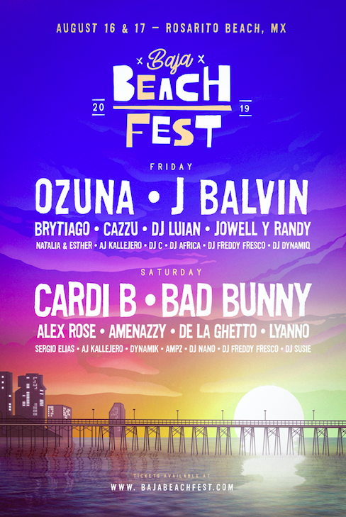 Baja Beach Fest Reveals 2019 Lineup, with Cardi B, Bad Bunny, J Balvin, and Ozuna