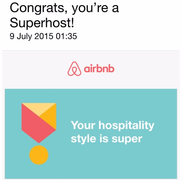 Superhost by Airbnb