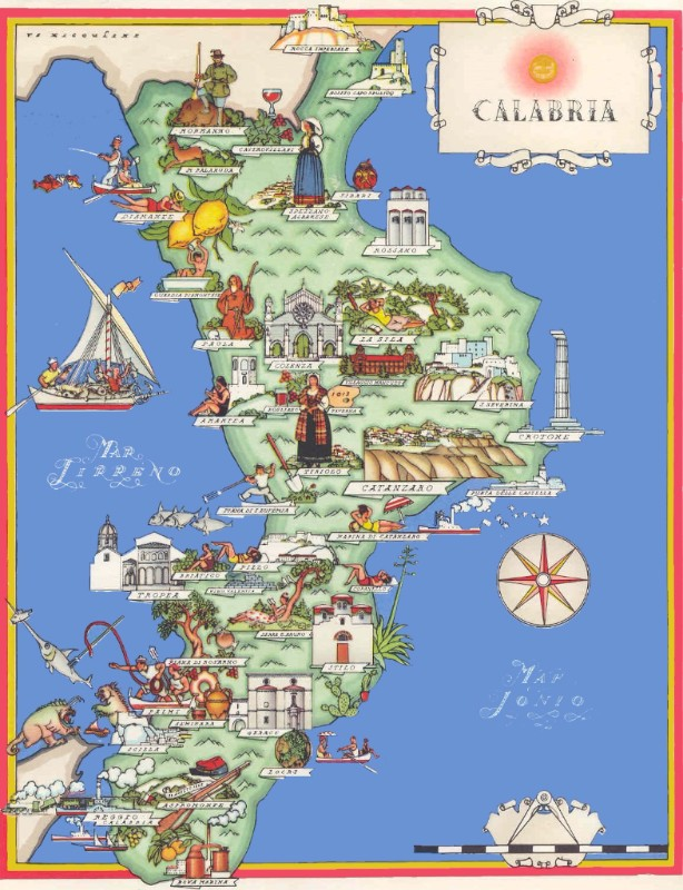 Map of Calabria - click for useful info