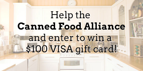 Help the Canned Food Alliance and enter to win!