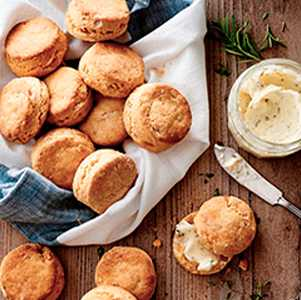 Sweet Potato Biscuits With Herbed Butter - Moody Dunbar