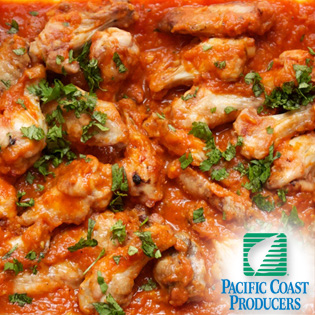 Baked Chicken Wings With Tomato Ginger And Sweet Onion Chutney - Pacific Coast Producers