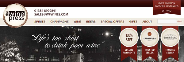 home page the wine press