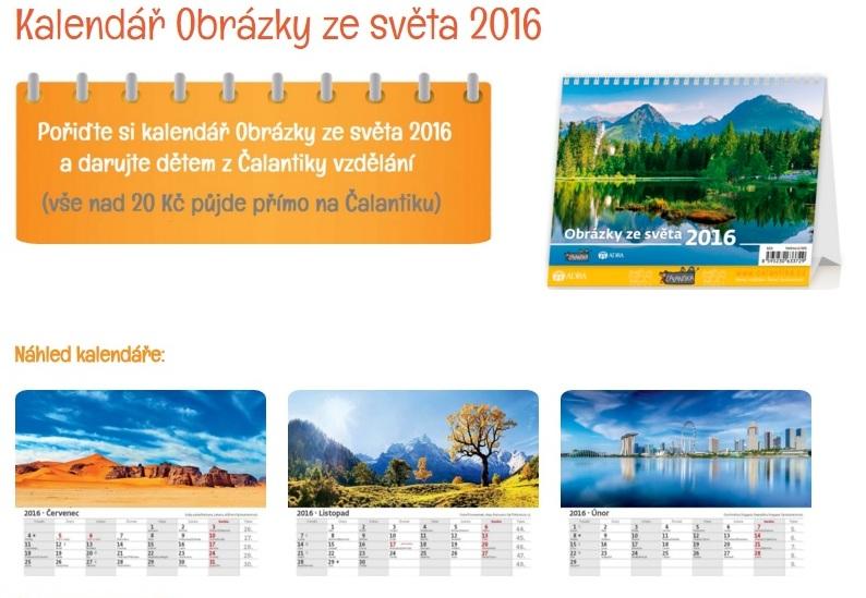 Kalendář Obrázky ze světa 2016