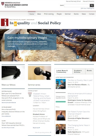 Inequality & Social Policy website
