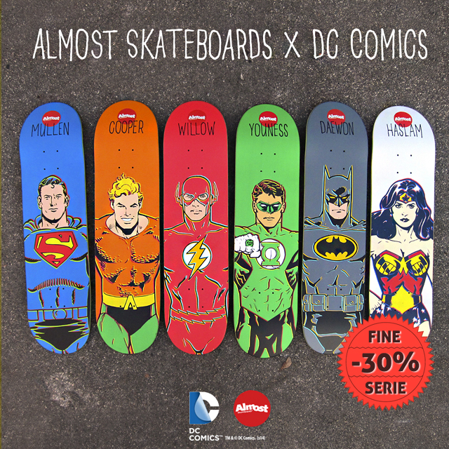 Almost Skateboards x Dc Comics a 22€