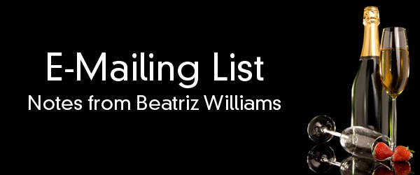 E-Mailing List: Notes from Beatriz Williams