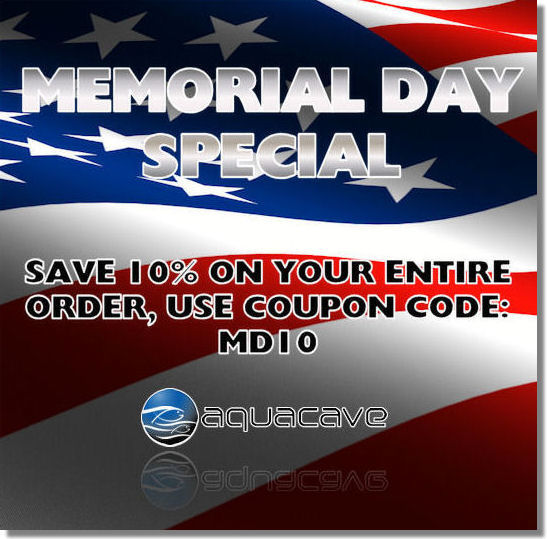 Memorial Day Sale at AquaCave.com