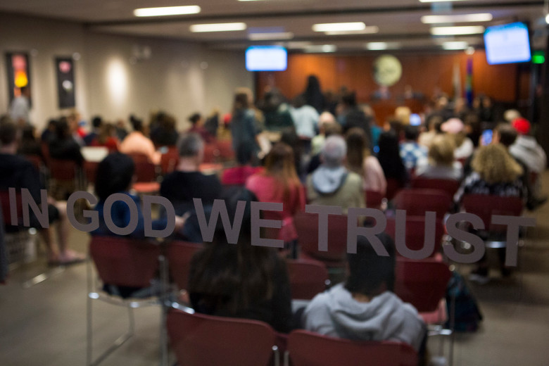 The Aliso Viejo City Council holds a meeting discussing whether or not to file a friend-of-the-court brief in support of the City of Los Alamitos and also the Orange County Board of Supervisors in United States V. State of California on Wednesday, April 4, 2018. (Photo by Drew A. Kelley, Contributing Photographer)