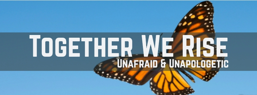 Together we rise, unafraid and unapologetic butterfly image