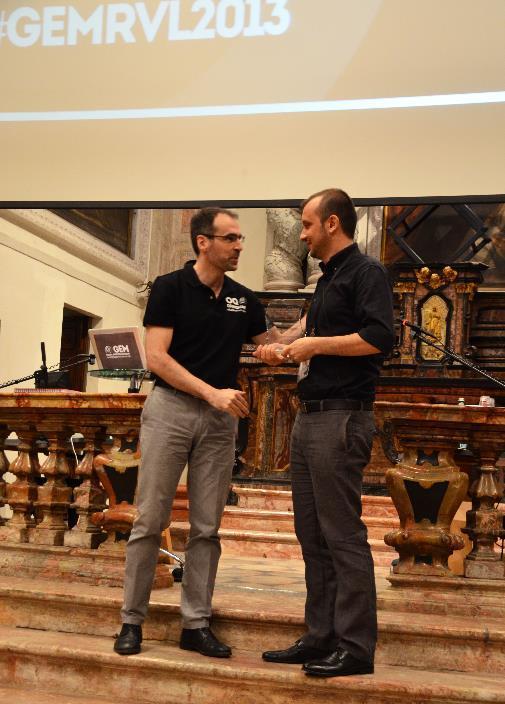 Laurentiu Danciu receiving the 2013 GEM Outstanding Contribution Award,