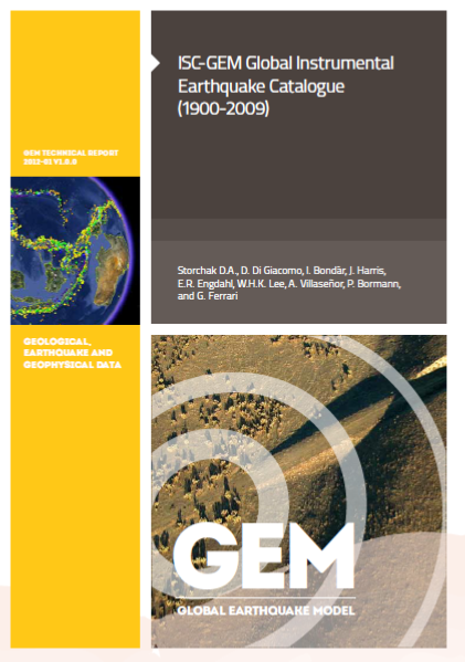 ISC-GEM Global Instrumental Earthquake Catalogue (1900-2009)