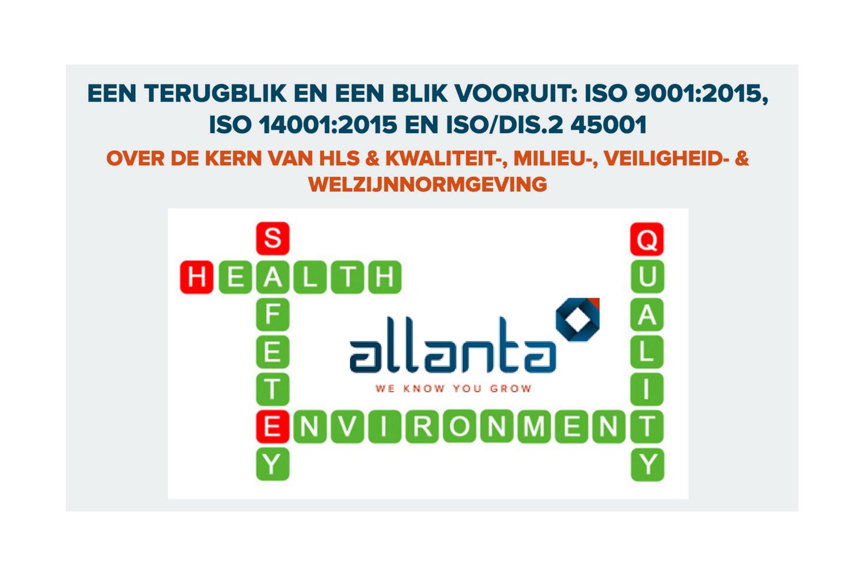 Allanta opleiding ISO9001:2015, ISO14001:2015, ISO/DIS.2 45001