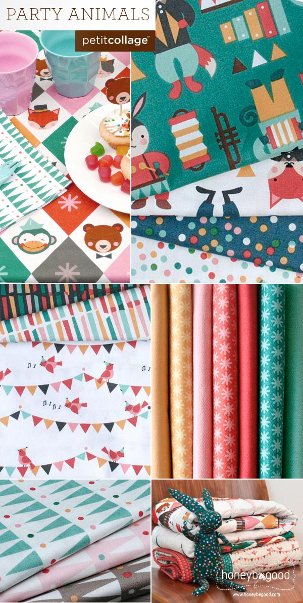 Party Animals by Petite Collage - 100% organic cotton for children's bedding and apparel