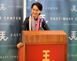 Aung San Suu Kyi at the East-West Center