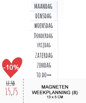 magneten weekplanning wit