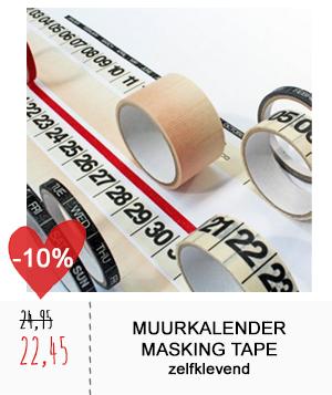 Muurkalender masking tape
