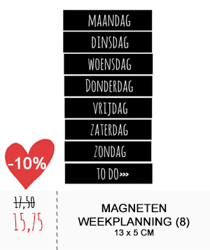 magneten weekplanning zwart