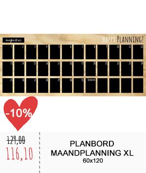 Planbord maandplanning XL