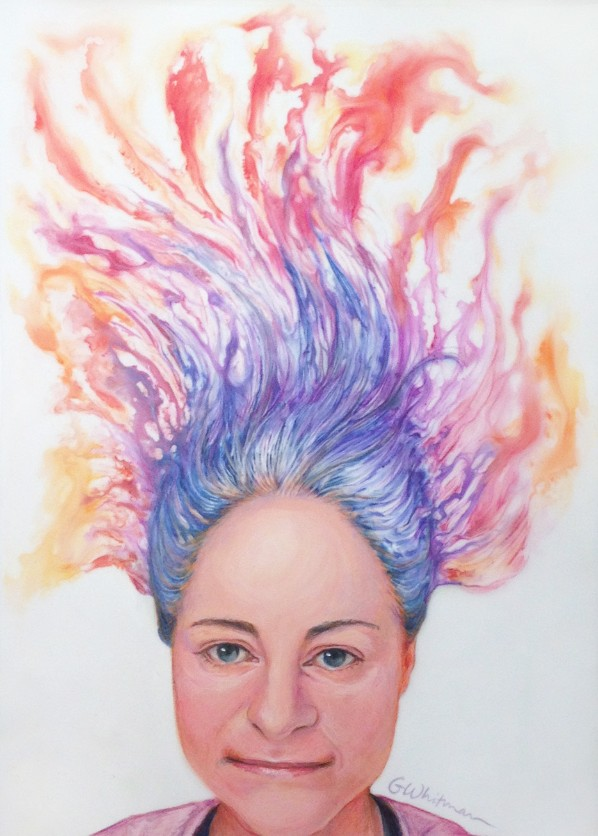 Gale's 'Coiffure on Fire' painting