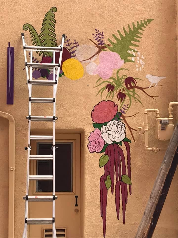 BloomMuralNearCompletionGWhitman