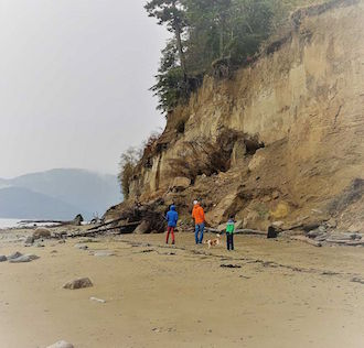 Yellow Bluff on Guemes Island