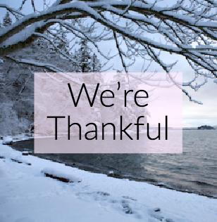 We're Thankful