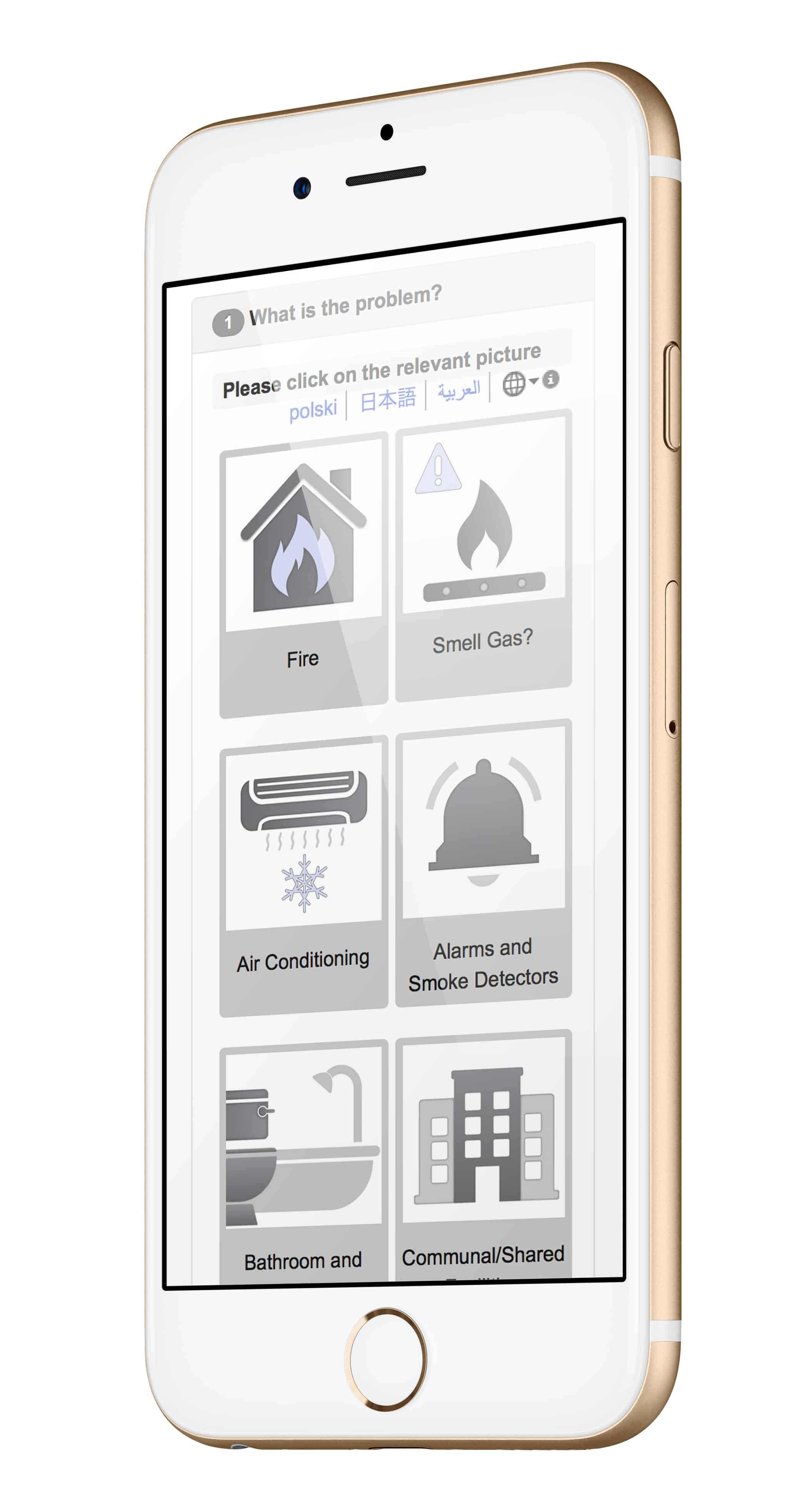Caption: FixFlo app for tenant fixes and repair scheduling