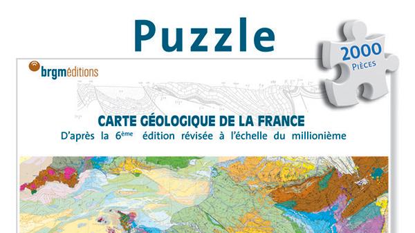 Puzzle de la Carte géologique de la France
