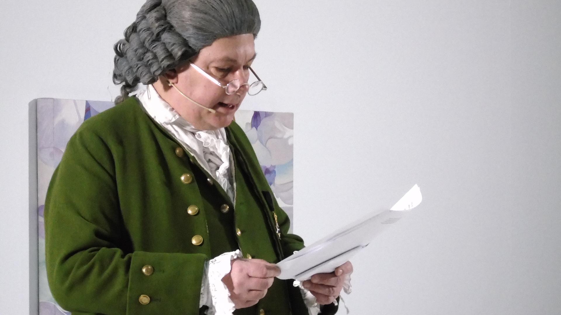 Carl Linnaeus played by Hans Odöö