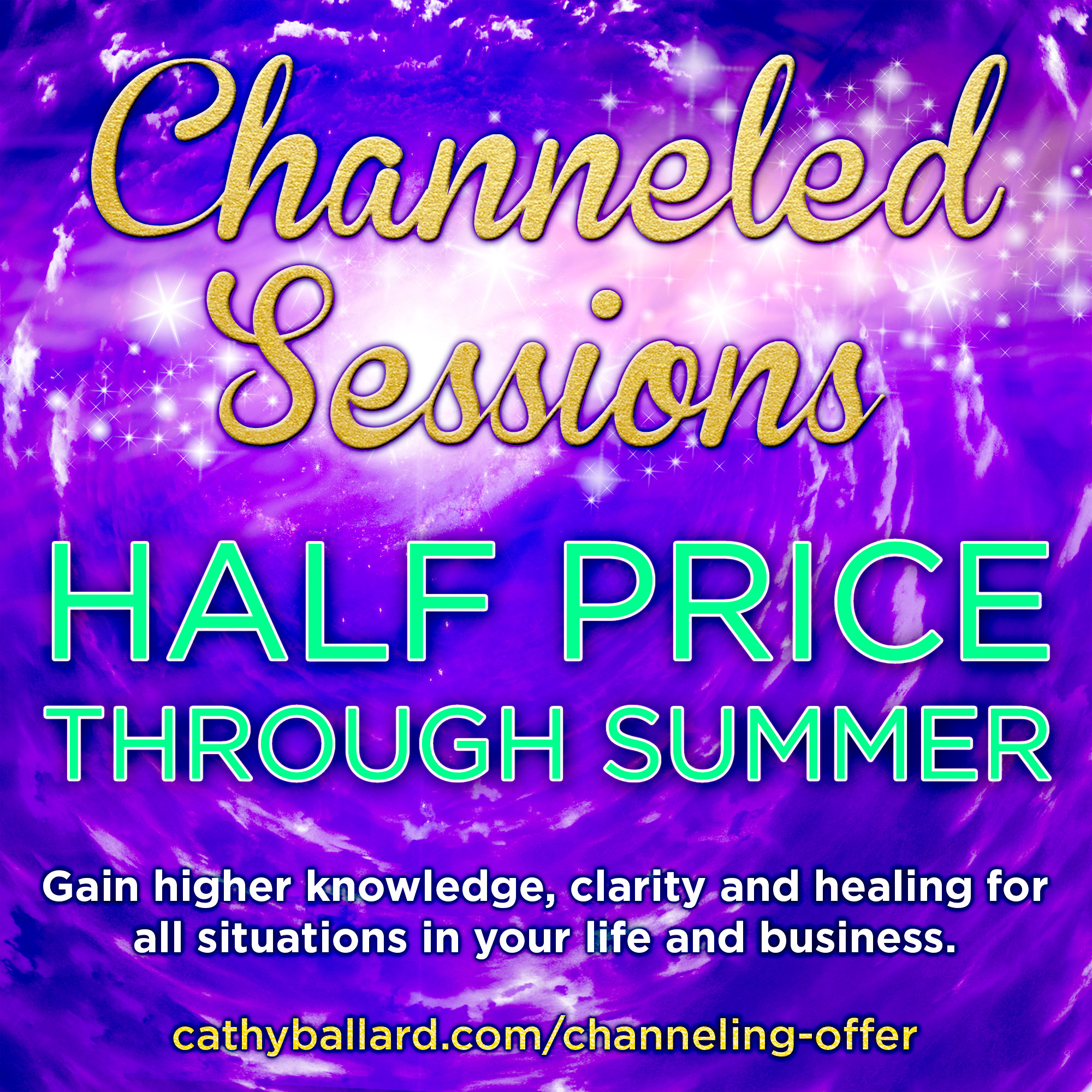 Channeled sessions half price through summer