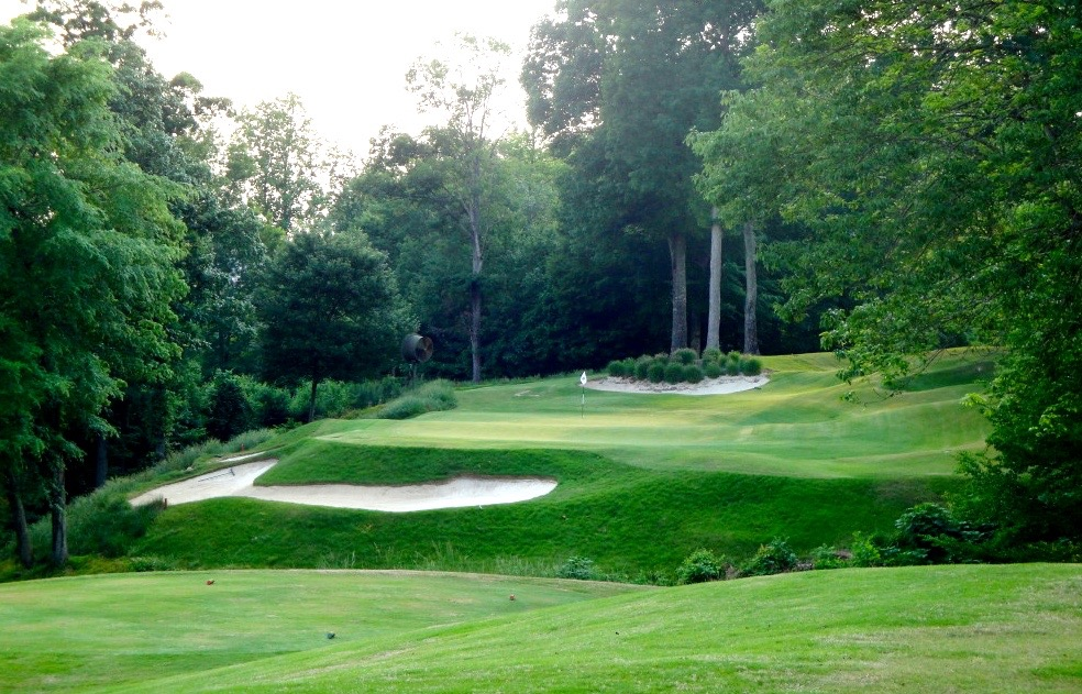 The private Treyburn Country Club in Durham, NC, ranks #34 of all layouts in the state.  It is at the heart of a community of homes with an average selling price between $400K and $500K.