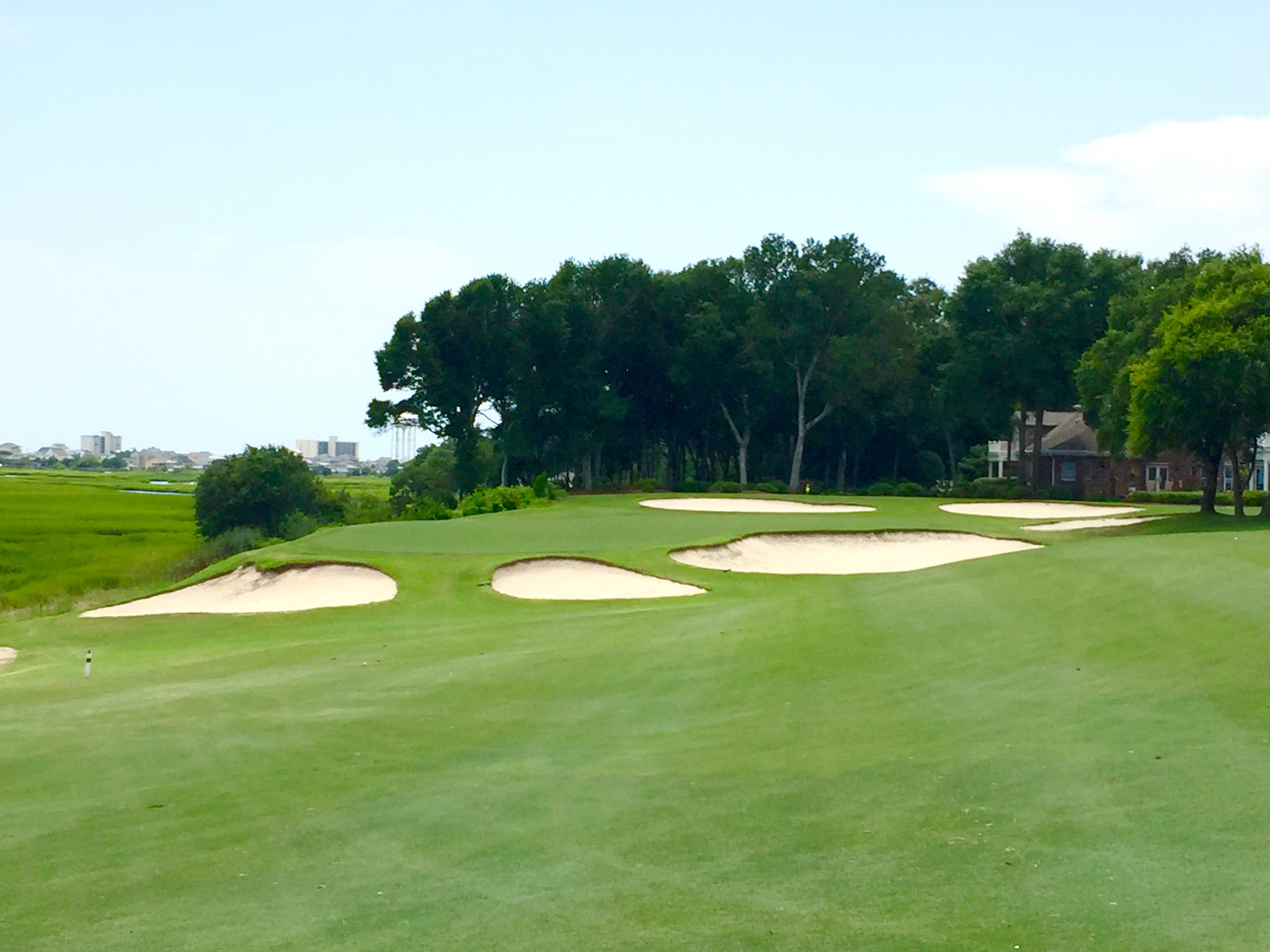 Tidewater Golf & Country Club in Little River, SC, is one of the top 30 courses you can play in South Carolina according to that state's golf panel.  Located just north of Myrtle Beach, the course is surrounded by homes and water.