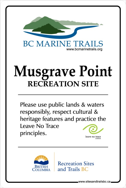 Musgrave Point Sign