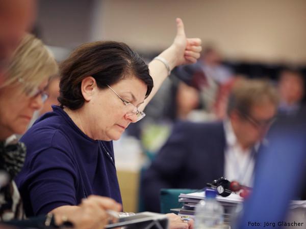 Constanze Krehl im Europäischen Parlament