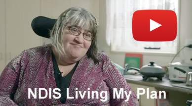 Video image Tina Gulino, a participant telling about her NDIS experience.