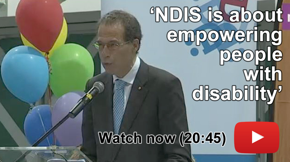 Screen shot of video about the NDIS' arrival in the Northern Territory