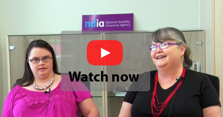 Christine Scott and daughter Leah (left) - click this image to play video
