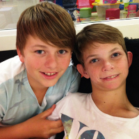 Brothers Thomas and Harry.