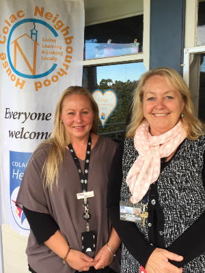 NDIA's Amber Yarde and Colac Neighbourhood House's Bev Rimmer
